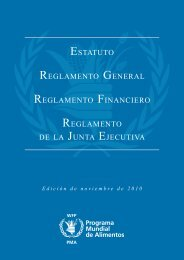 Estatuto y Reglamento General - WFP