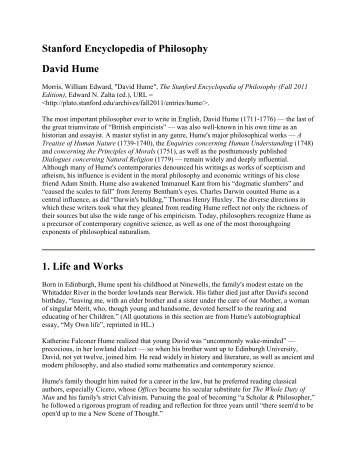 an overview of the philosophic endeavors by david hume The philosophical works of david hume this is a detailed list of the hume manuscripts with a contents summary of each item david fate taylor, jacqueline.