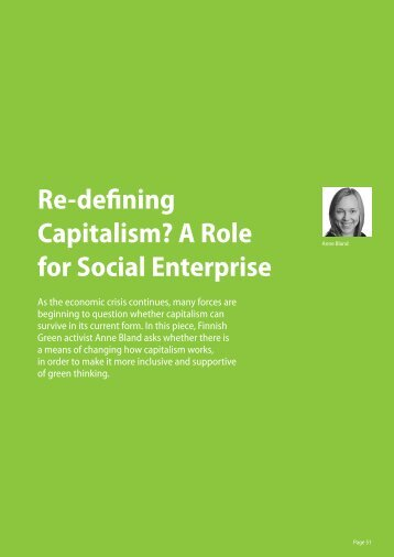 Re-defining Capitalism? A Role for Social Enterprise - Green ...