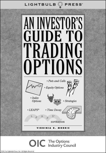 An Investor's Guide To Trading Options Kindle Version - The Options ...