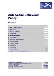 Anti-Social Behaviour Policy - Swan Housing Association