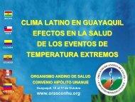 08. Cambios Extremos en Temperaturas - Organismo Andino de Salud
