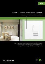 Lutron® | Rania® eco-minder™ dimmer