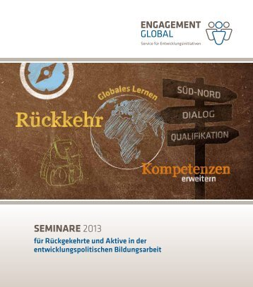 Seminarprogramm 2013 - Engagement Global