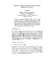 Parallel Algorithm for Feedforward Neural Network Controller