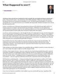 What Happened to 2007? - Eric A. Hanushek