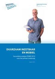 DUURZAAM INZETBAAR EN MOBIEL - Arbeidsmarktplatform PO