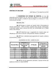Calendário de Pagamento do IPVA - Secretaria de Estado da receita