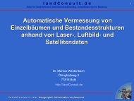 Aktuelle Datengrundlagen und neue Methoden - landConsult.de