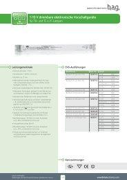 1-10 V dimmbare elektronische Vorschaltgeräte - BAG electronics