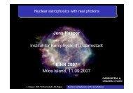 Nuclear Astrophysics with Photons - IASA