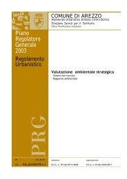 Valutazione ambientale strategica - Comune di Arezzo