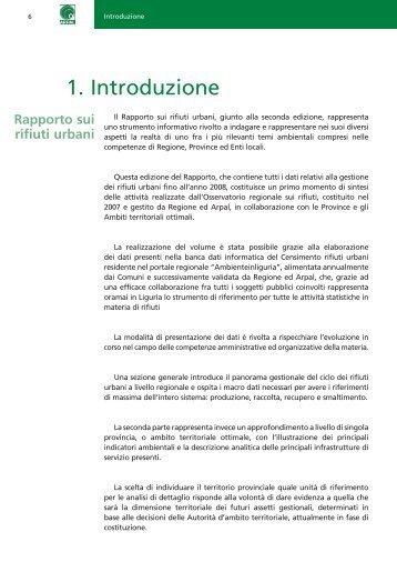 Rapporto sui rifiuti urbani - Ambiente in Liguria