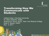 Transforming How We Communicate with Students - AAMC