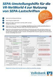 SEPA-Umstellungshilfe VR-NetWorld Software - Volksbank Darmstadt