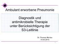 Ambulant erworbene Pneumonie Diagnostik und antimikrobielle ...