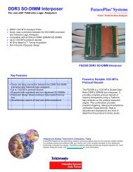 DDR3 SO-DIMM Interposer - FuturePlus Systems
