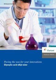 Glyoxylic acid ethyl ester - Clariant