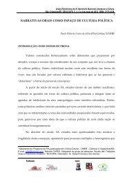 NARRATIVAS ORAIS COMO ESPAÇO DE CULTURA POLÍTICA