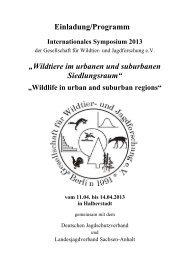 TAGUNGSPROGRAMM - alle Referenten - Gesellschaft für Wildtier