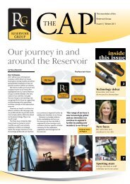 Our journey in and around the Reservoir - ALS Oil & Gas