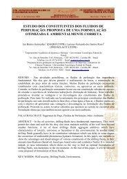 estudo dos constituintes dos fluidos de ... - PPGEM - UTFPR