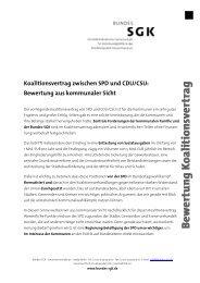 Koalitionsvertrag zwischen SPD und CDU/CSU ... - SGK Hessen
