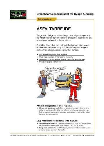 Faktablad om asfaltarbejde - BAR Bygge & Anlæg