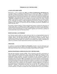 TERMINOS DE USO / RESTRICCIONES - RCI.com