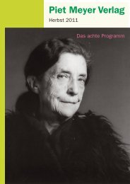 Das Verlagsporträt aus dem Schweizer Buchhandel
