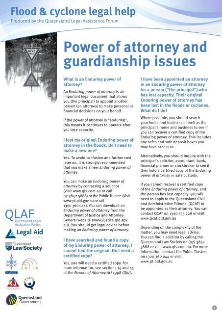 Power of attorney and guardianship issues - Legal Aid