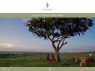Sanctuary Olonana, Masai Mara - Sanctuary Retreats