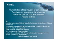Current state of the industry of composites of Russia on an example ...