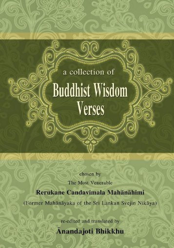 A Collection of Buddhist Wisdom Verses - Ancient Buddhist Texts
