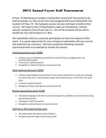golf tournament sponsorship package template - fingradio.tk