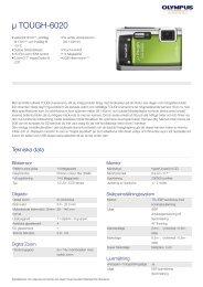µ TOUGH-6020, Olympus, Compact Cameras