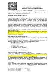 \THE HALL EFFECT: TECHNICAL RIDER/ (Usted ... - La Plataforma