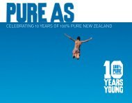 Pure As - Tourism New Zealand