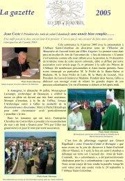 gazette 2005 - L'association des Amis de Saint Colomban