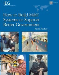 How to Build M&E Systems to Support Better Government How to ...