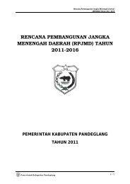 rencana pembangunan jangka menengah daerah - Pemerintah ...