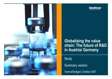 Globalizing the value chain: The future of R&D in Austria/ Germany
