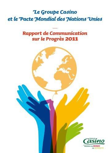 Rapport de Communication sur le Progrès 2011 - Groupe Casino