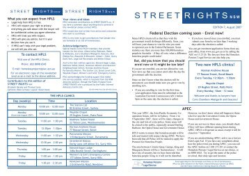 Street Rights Edition 7.indd - Public Interest Advocacy Centre