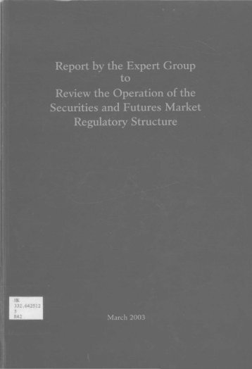 regulation of the securities market in hong kong