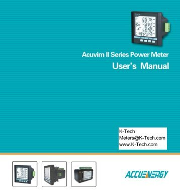 Acuvim II Users Manual. - K - Tech, Inc.