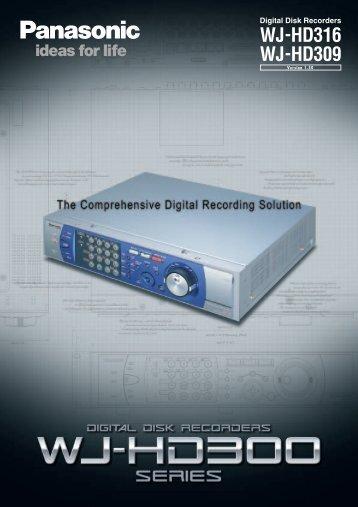 Panasonic WJ-ND300 Network Disk Recorder - Network Webcams