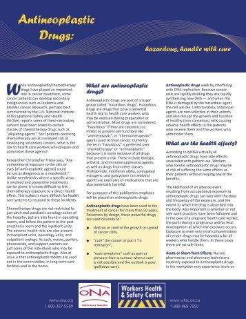 Antineoplastic Drugs, Handle With Care - Ontario Nurses' Association