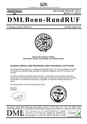 DMLBonn-RundRUF - Deutsche Muslim Liga Bonn