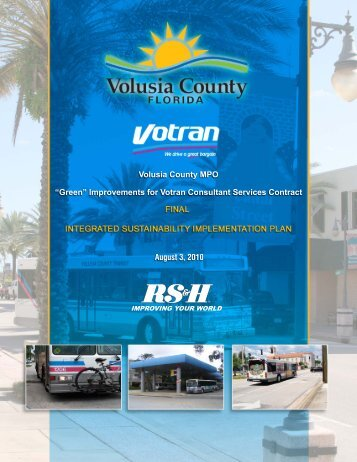 Integrated Sustainability Implementation Plan - Volusia TPO ...